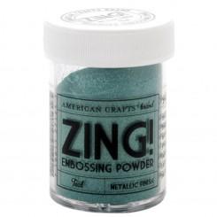 Teal Metálico - Polvos Zing! de American Crafts