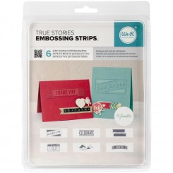 True Stories Phrase Strips Embossing