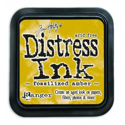 Distress Ink Fossilized Amber