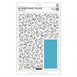 Carpeta de embossing Flores A4-Xcut