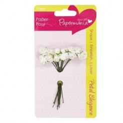 Ramillete Pétalo Rosa Blanca-Papermania