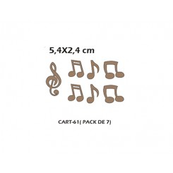 CART-061 Set notas musicales