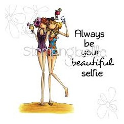 Uptown Girl Samantha And Sierra Take A Selfie- Stampingbella