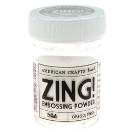 Blanco Opaco - Polvos Zing! de American Crafts