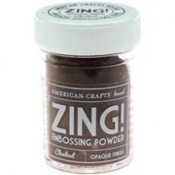 Castaño Opaco - Polvos Zing! de American Crafts
