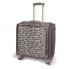 Maleta 360 Crafter's Bag Gris con letras-We R Memory Keepers