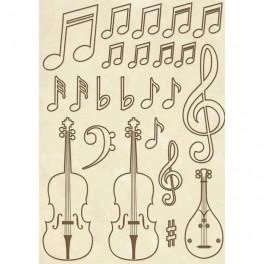 Set de maderas Violines - Stamperia