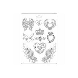 Moldes de alas y corazones - Stamperia