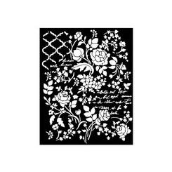 Stencil grueso Floral Fantasy - STamperia