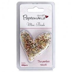 Mini brads metálicos - Papermania