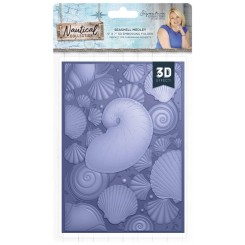 Carpeta embossing 3D Seashell Medley Nautical
