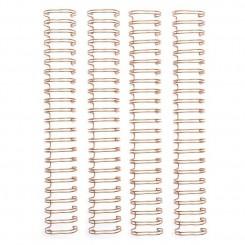 """Espirales Oro Rosa 2,54cm-1"""""""