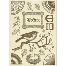 Believe Bird Cosmos  Cristina Radovan - Stamperia