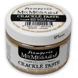 Crackle Paste Red Gold - Stamperia