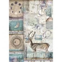 Papel Arroz A4 Cosmos Deer -Stamperia
