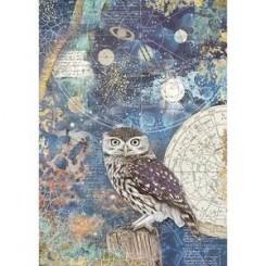 Papel Arroz A4 Cosmos Owl - Stamperia