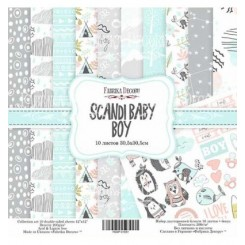 Scandi Baby Boy 12x 12 - Fabrika Decoru