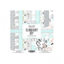 Scandi Baby Boy 8x 8 - Fabrika Decoru