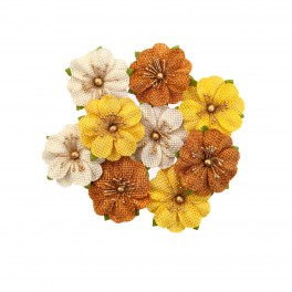 Flores de papel Autumn Sunset Haystack - Prima Marketing