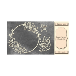 Chipboards  Roses in a circle - Fabrika Decoru