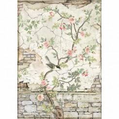 Little Bird on Branch A4 - Stamperia