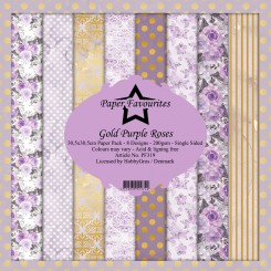 Purple Roses - Dixi Craft