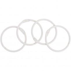 Anillas metálicas Blanco 4,40cm