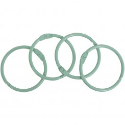 Anillas metálicas Verde Mint 4,40cm