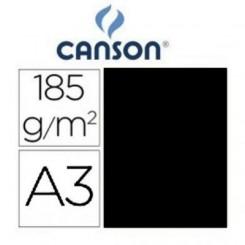 Cartulina Negra 185 Grs A3 - Canson Iris