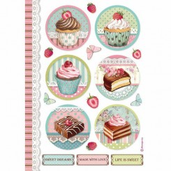 Papel de Arroz Mini Cakes A4 - Stamperia