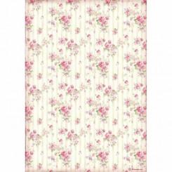Papel Arroz A4 Rose Wallpaper - Stamperia