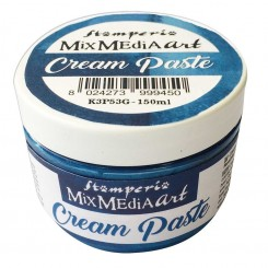 Cream Paste flexible Metálica Azul - Stamperia
