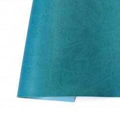Ecopiel mate Azul Turquesa - Kora