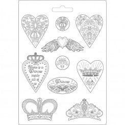 Molde Hearts and Crowns A4 - Stamperia