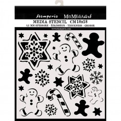 Stencil Gingerbread - Stamperia
