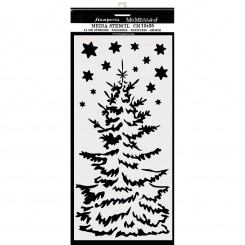 Stencil Christmas Tree - Stamperia