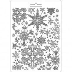 Molde A5 Snowflakes - Stamperia