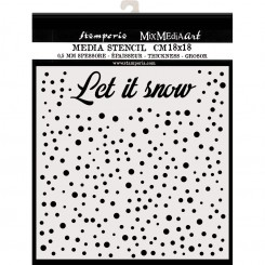 Stencil Let's Snow - Stamperia