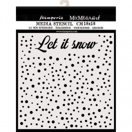 Stencil Let's Snow - Stamperia