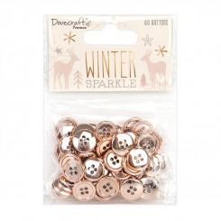 Botones Oro Rosado Winter Sparkle