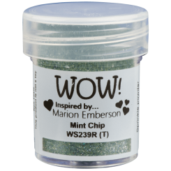 Polvos de embossing Mint Chip Regular - Wow