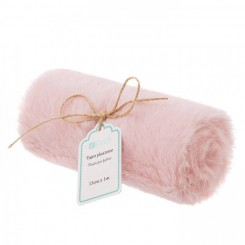 Plush Fur Fabric 15cm x 1 m, Rosa