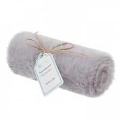 Plush Fur Fabric 15cm x 1 m, Gris