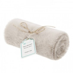 Plush Fur Fabric 15cm x 1 m, Beige