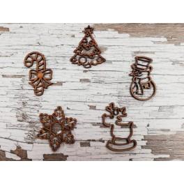 Siluetas madera navidad