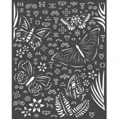 Stencil  Mariposas Amazonia-Stamperia