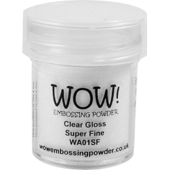 Polvos de embossing Clear Gloss Super Fine - Wow