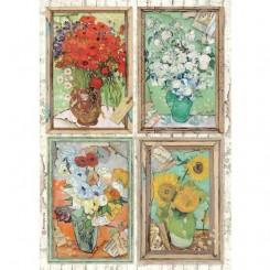 Papel de arroz A4 Van Gogh Atelier de Sara Alcobendas - Stamperia