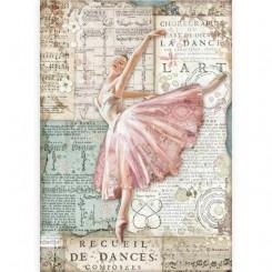 Papel de arroz A4 Bailarina de Passion-Stamperia