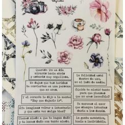 Hoja Adhesiva My Journal Primavera PALABRAS Y FLORES de Vicky Trabas